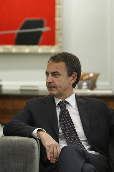 José Luis Rodríguez Zapatero, en el Palacio de la Moncloa.
