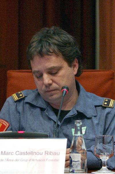 Marc Castellnou, jefe de la unidad de élite de los bomberos catalanes.