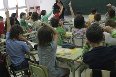 Un grupo de niños durante una clase