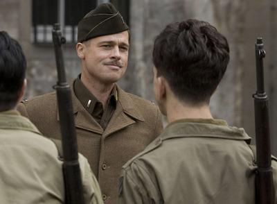 Brad Pitt, en un fotograma de la película  Malditos bastardos,  de Quentin Tarantino.