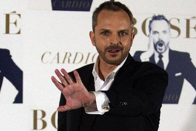 Miguel Bosé en la presentación de  Cardio .