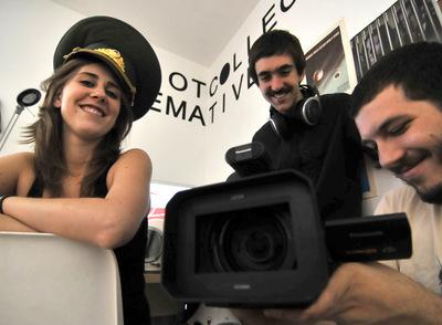 Carola, Bruno y Nico, artífices de El Cosmonauta.