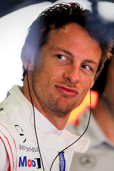 Jenson Button, ayer en Melbourne.