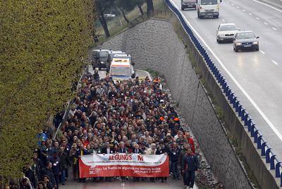 Marcha de alcaldes del sur de Madrid para reclamar más inversiones