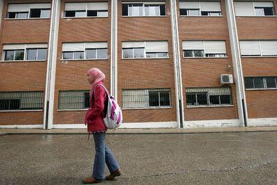 Najwa Malha, alumna del instituto Camilo José Cela, en Pozuelo (Madrid).