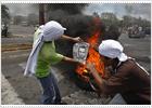Turbas sandinistas atacan el Parlamento por tercer día