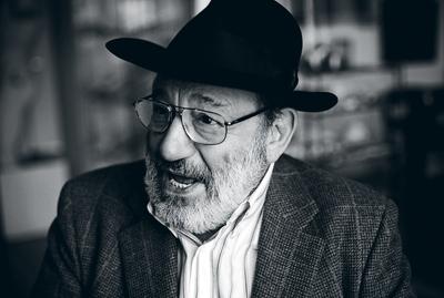 Umberto Eco, semiótico, ensayista, crítico literario mantiene todo su vigor mental a los 78 años.