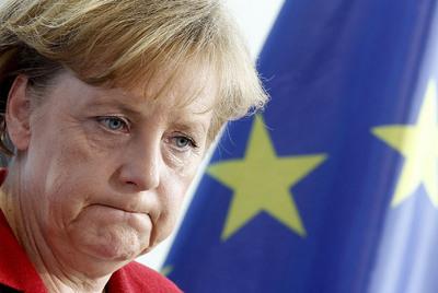 Angela Merkel, ayer durante una conferencia de prensa en Berlín.