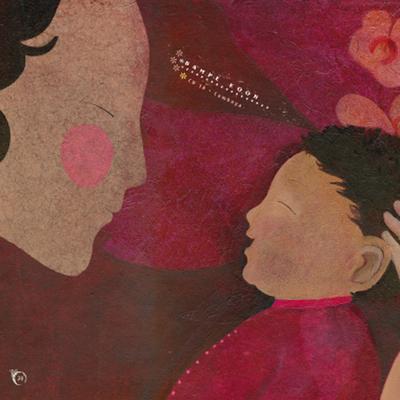 Ilustración de Claire Degans para el disco-libro  Canciones infantiles y nanas de los arrozales , de la editorial Kókinos.