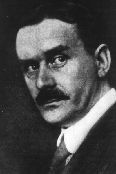 Thomas Mann (1875-1955), en una imagen del libro  El mundo moderno  (Edhasa), de Malcolm Bradbury.
