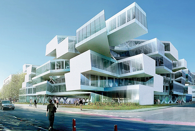 Actelion Business Center en Allschwil (Suiza), del estudio Herzog & De Meuron
