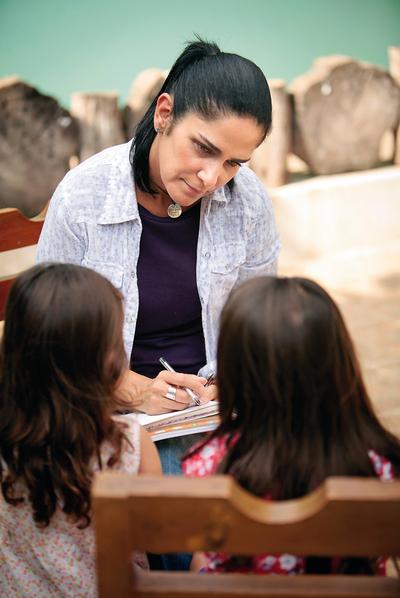 Lydia Cacho durante la preparación de su libro.