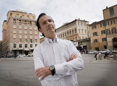 Tomasso Debenedetti, durante la entrevista con EL PAÍS, en Roma.