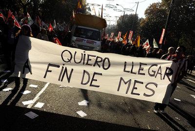 Manifestación realizada en Madrid, en diciembre de 2009.
