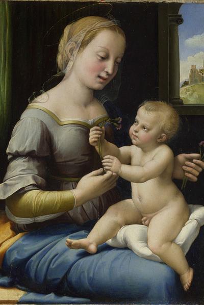 La Madonna de los claveles   de Rafael