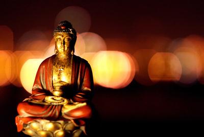 Pequeña representación de Buda.