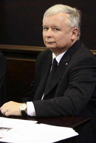 El candidato ultraconservador polaco, Jaroslaw Kaczynski.