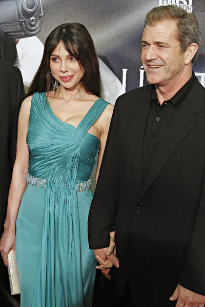 Oksana Grigorieva y Mel Gibson.
