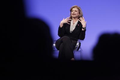 Arianna Huffington, el año pasado en Italia durante unas jornadas dedicadas al futuro de marcas, empresas y consumidores.