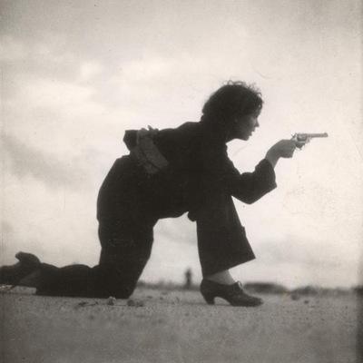 Una miliciana española.