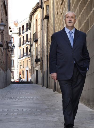 Vicente Del Bosque, entrenador de la selección española de fútbol.