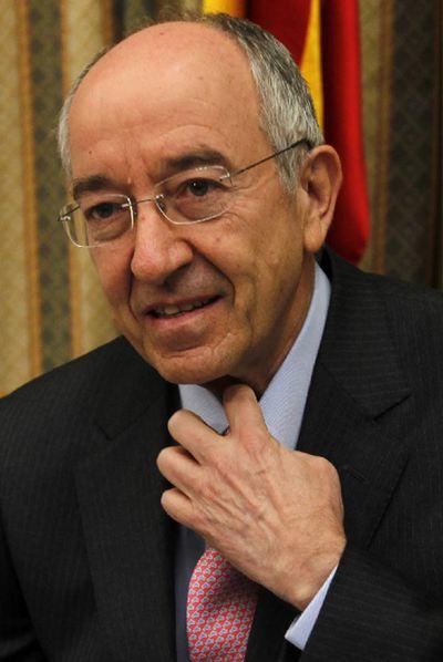 Miguel Ángel Fernández Ordóñez, en el Congreso.