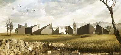 Recreación del futuro Museo de la Vega Baja, en Toledo, dedicado al arte visigótico, que construirá el estudio de Tuñón y Mansilla.