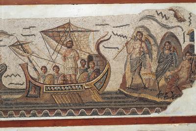 Mosaico de Ulises del año 260 antes  de Cristo, de Thugga (Museo del Bardo, Túnez).rn  Getty Images