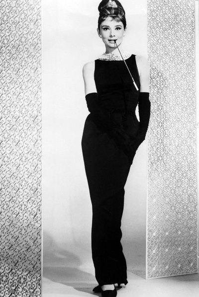 Audrey Hepburn en  Desayuno con diamantes.