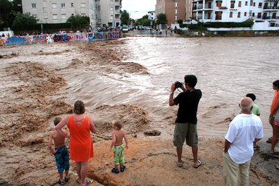 El temporal causa riadas en Tarragona