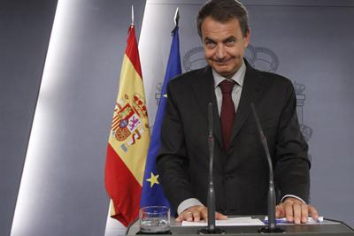 El Presidente Rodríguez Zapatero anuncia la liberación de los cooperantes.