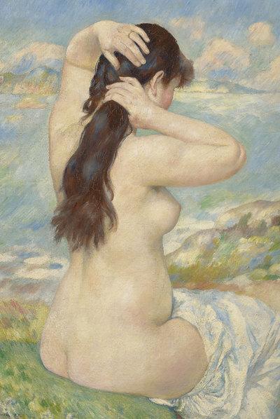 Bañista peinándose,  obra de Renoir que se verá en el Museo del Prado en la muestra dedicada al pintor francés.
