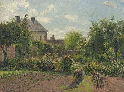 El jardín del artista en Éragny (1898),   de Camille Pissarro.