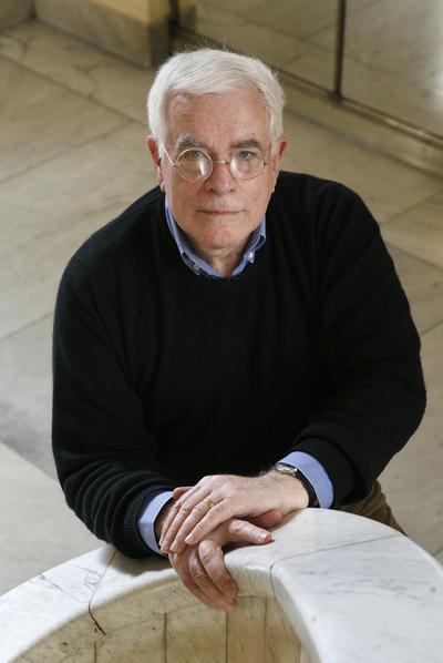 El arquitecto Peter Eisenman, entrevistado en el Círculo de Bellas Artes de Madrid.