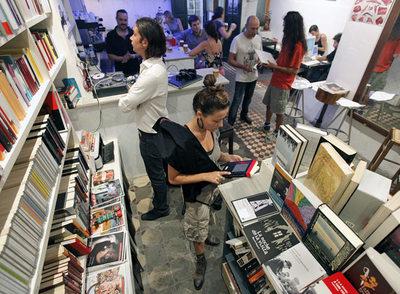 Librería Slaughterhouse en el barrio de Russafa, en Valencia.