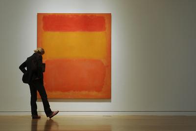 Naranja, rojo, amarillo (1956), de Mark Rothko (1903-1970).