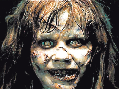 Linda Blair en su papel de la niña de  El Exorcista