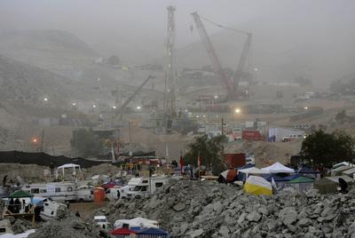 El campamento Esperanza, instalado en las inmediaciones de la mina San José.