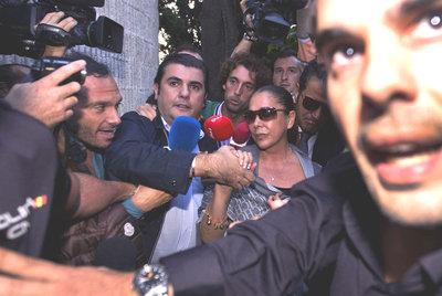 La tonadillera Isabel Pantoja, a su llegada ayer a los juzgados de Marbella.