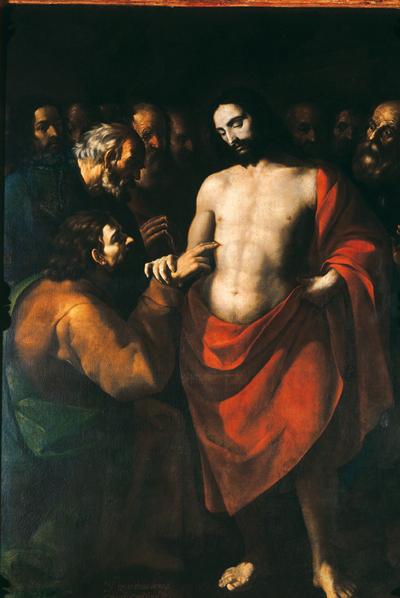 Incredulidad de Santo Tomás (circa 1643), de Sebastián López Arteaga. Museo Nacional de Arte. México