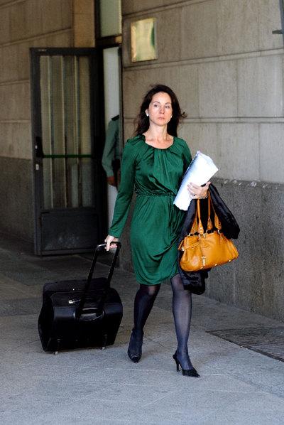La juez Mercedes Alaya, a su salida de los juzgados sevillanos.