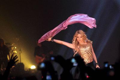 Shakira, anoche en el Sant Jordi.