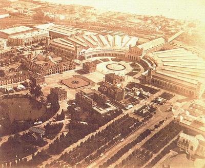 Vista aérea de la Exposición Universal de Barcelona de 1888.