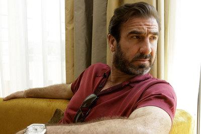 Cantona, en la presentación de su película  Buscando a Eric,  en Cannes, en 2009.