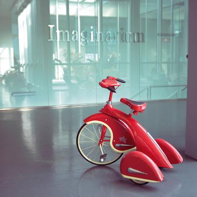 Fórmula Mágica.rnArriba, un modelo clásico de triciclo.