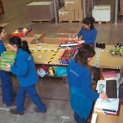 El almacén, con capacidad para 25.000 cajas