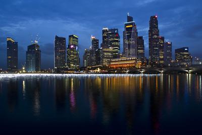 Panorámica del distrito financiero de Singapur.