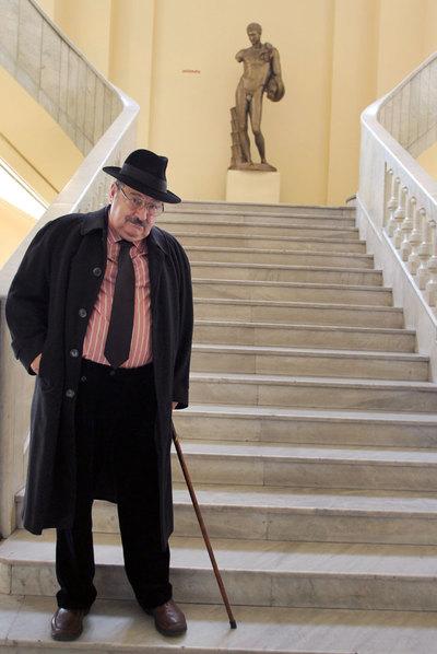 Umberto Eco, ayer en el Círculo de Bellas Artes.