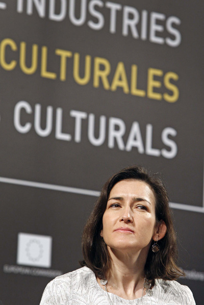 La ministra Ángeles González-Sinde en una imagen de archivo