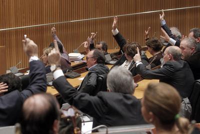 Votación el pasado 21 de diciembre en la Comisión de Economía del Congreso de los Diputados de la Ley de Economía Sostenible.